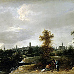 Teniers, David the Younger. View neighborhoods in Brussels, part 11 Hermitage