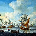 Silo Adam. The maneuvers of the fleet, arranged in the Bay Hey in honor of Peter I in Amsterdam, part 11 Hermitage