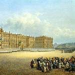 part 11 Hermitage - Sadovnikov, Vasily. View the Winter Palace from the Admiralty. Divorce Guard
