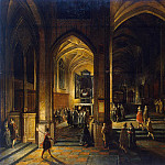 Stenveyk, Hendrick van the Younger. Interior of a Gothic church , part 11 Hermitage