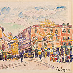 Signac, Paul. Town Square, part 11 Hermitage