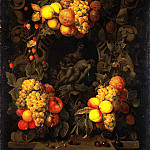 Son, Joris van. Lamentation of Christ, surrounded by a garland of fruit, part 11 Hermitage