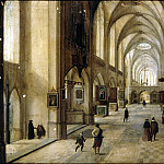 Stenveyk, Hendrick van the Younger. Interior of a Gothic church, part 11 Hermitage