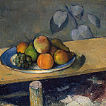 Cezanne, Paul. Apples, peaches, pears and grapes, part 11 Hermitage