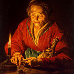 Stomer, Mathias. Old woman with a candle, part 11 Hermitage