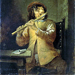 Teniers, David the Younger. Flutist, part 11 Hermitage