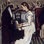 Cezanne, Paul. The girl at the piano, Paul Cezanne