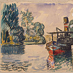 Signac, Paul. The tug and barge in Samoa, part 11 Hermitage