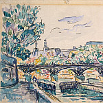 Signac, Paul. River Seine near the Pont des Arts with a view of the Louvre, part 11 Hermitage