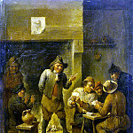 Teniers, David the Younger. Peasants in a Tavern, part 11 Hermitage