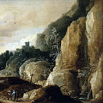 Teniers, David the Younger. Mountain landscape, part 11 Hermitage