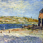 Sisley, Alfred. The shore of the river in Saint-Mammese, part 11 Hermitage