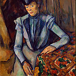 Cezanne, Paul. Lady in Blue, Paul Cezanne