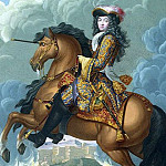Somer, Paul van Younger. Equestrian portrait of Louis XIV, the commander of, part 11 Hermitage