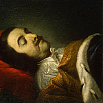 Tannauer, Johann Gottfried. Portrait of Peter I on her deathbed, part 11 Hermitage
