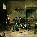 Teniers, David the Younger. Monkeys in the kitchen, David II Teniers