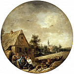 Teniers, David the Younger. Landscape with a village pub, part 11 Hermitage