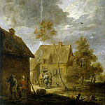 Teniers, David the Younger. Yard peasant houses , part 11 Hermitage