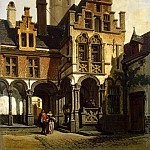 Strobant, Francois. The yard of the palace of Margaret of Austria in Mechelen, part 11 Hermitage