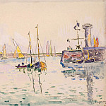 Signac, Paul. Sailboats in the harbor Sables d Ohlone, part 11 Hermitage
