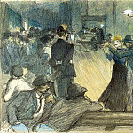 Steinlen, Theophile Alexandre. Ball in the suburbs of Paris, part 11 Hermitage