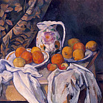 Cezanne, Paul. Still Life with Drapery, part 11 Hermitage