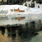 Tauli, Frits. Winter landscape, part 11 Hermitage