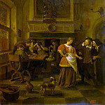 Steen, Ian. The scene in the pub, Jan Havicksz Steen