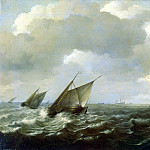 part 11 Hermitage - Sorgue, Hendrik Martens. Sailing vessels under strong wind
