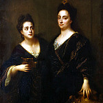 Santerre, Jean-Baptiste. Portrait of two actresses, part 11 Hermitage