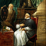 Teniers, David the Younger. Portrait of Ghent, Bishop Anthony Trista and his brother. Capuchin Friars Eugene, David II Teniers
