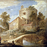Teniers, David the Younger. Landscape with a Tower, part 11 Hermitage