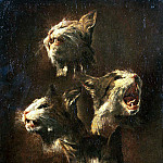 Snyders, Frans. Sketches of the head cat, Frans Snyders