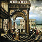 Stenveyk, Hendrick van the Younger. Italiano Palace, Jan Havicksz Steen