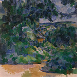 Cezanne, Paul. Blue landscape, part 11 Hermitage