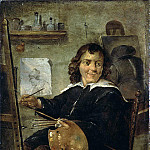 Teniers, David the Younger. A painter in his studio, part 11 Hermitage