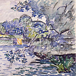 Signac, Paul. Banks of the Seine, part 11 Hermitage