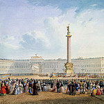 part 11 Hermitage - Sadovnikov, Vasily. View of the Palace Square and the General Staff building in St. Petersburg