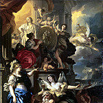 Solimena, Francesco. Allegory of the reign, part 11 Hermitage