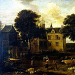 Teniers, David the Younger. Yard Dreytorenskogo Castle, David II Teniers