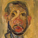 Soutine, Chaim. Self-portrait, part 11 Hermitage
