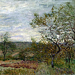 Sisley, Alfred. Windy Day in Vienna, Alfred Sisley