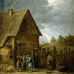 Teniers, David the Younger. Yard peasant houses, part 11 Hermitage