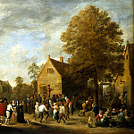 Teniers David Younger. Village Festival, part 11 Hermitage