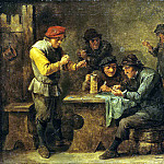 Teniers, David the Younger. Peasants Playing Dice, part 11 Hermitage