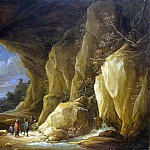 Teniers, David the Younger. Landscape with grotto and a group of Roma, David II Teniers