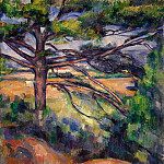 Cezanne, Paul. A large pine tree near Aix, Paul Cezanne
