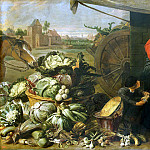Snyders, Frans. Vegetable shop, part 11 Hermitage