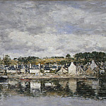 Village by a River, Eugene Boudin