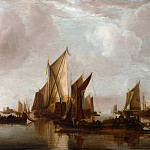 Jan van de Cappelle – A State Yacht and Other Craft in Calm Water, Metropolitan Museum: part 3